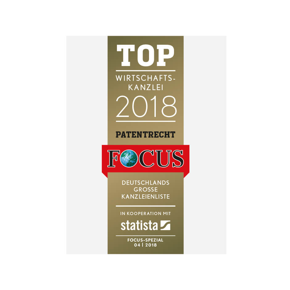 TOP business law firm in the area of patent law 2018