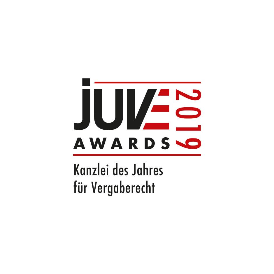 """JUVE Award <br> """"Kanzlei des Jahres für Vergaberecht"""""""