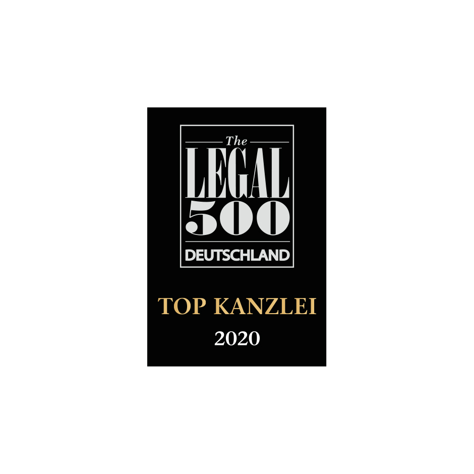 TOP law firm 2020 Legal 500 Germany