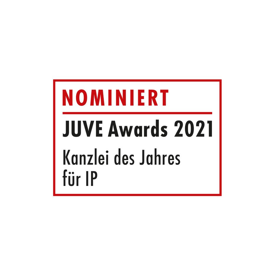 """JUVE Award """"Kanzlei des Jahres für IP"""""""